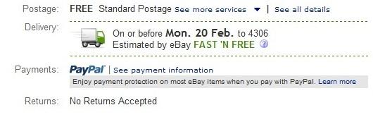 ช่วยให้ผู้ซื้อมั่นใจกับบริการส่งสินค้าฟรีที่รวดเร็วกับ eBay Fast N Free