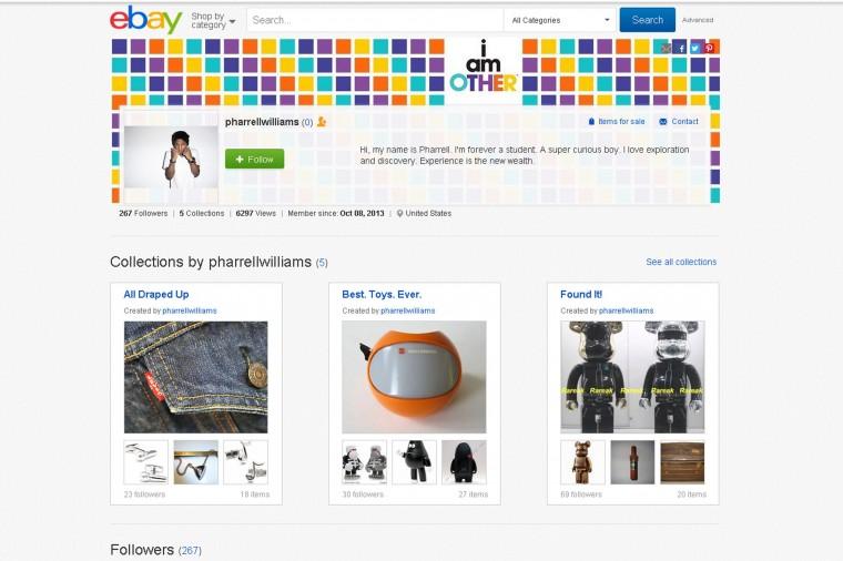 eBay คลอดบริการกระดานปักหมุดสไตล์ Pinterest