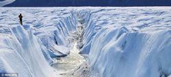 เผยน้ำแข็งขั้วโลกแตก