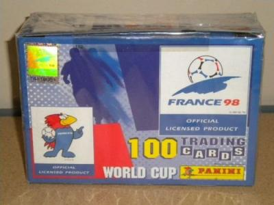 France 98 world cup soccer 1998 PANINI 35 PACK BOX CARD