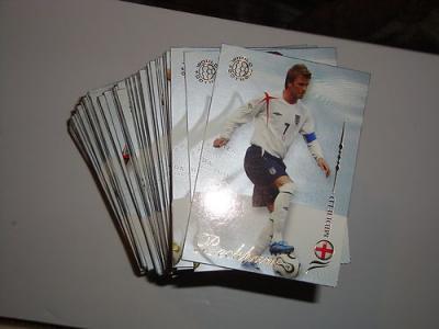 2007 World Football Futera base set 200 cards Beckham, Ronaldo