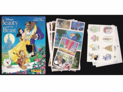 DISNEYS BEAUTY & THE BEAST - A COMPLETE PANINI 1994 STICKER SET AND ALBUM