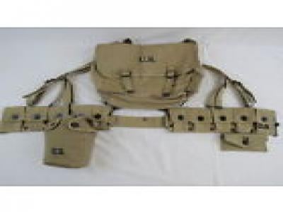 SET US ARMY WW2 GI RIFLEMAN Webgear Package Mussette Bag Koppelzeug Suspenders