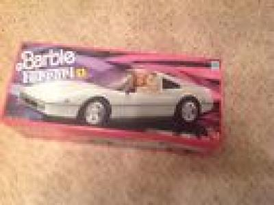 Barbie *Ferrari *1988* White Car *MINT IN BOX*GREAT CAUSE