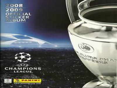 Panini Champions League 08/09 Leer Album + 6 Sticker