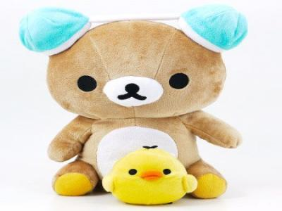 San-X Rilakkuma Plush Doll Dancing Speaker Winter Version (Rilakkuma)