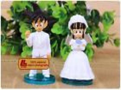 Dragon Ball Z DBZ Goku & ChiChi 9CM Marry 2pcs Figures New In Box Wedding Gift
