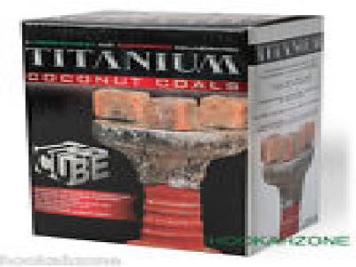 HJ Titanium Coconut Coal The CUBE Hookah Charcoal Coco Shisha NARA MAZAYA 72 ct