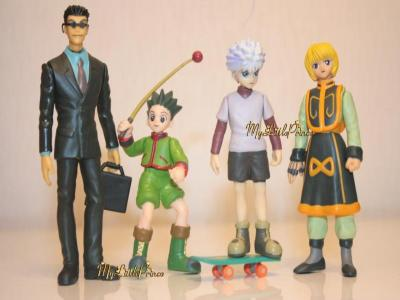 Anime Hunter X Hunter Gon Killua 4 Figure SET Toy Box