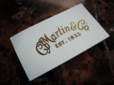 C. F. Martin Guitar headstock waterslide decal - Metallic Gold