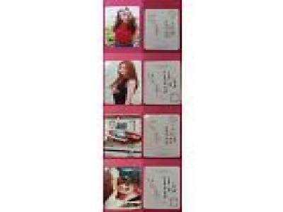 APINK NAEUN 4pcs Official Photo Card WHITE RED PINK MEMORY 2nd Album Photocard