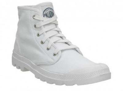 Palladium Men's Pampa Hi White & Navy Ankle Boot 02352