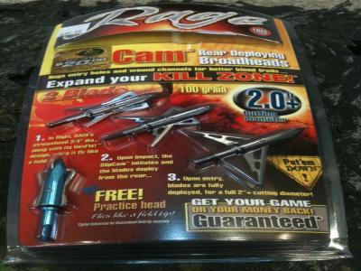Rage SlipCam 31000 2-Blade 100 Grain Mechanical Broadhead 3-Pack 31000