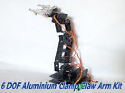 Aluminium Robot 6 DOF Arm Clamp Claw Mount Kit for Arduino Compatible*