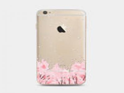 Ultra Slim Sakura Pattern Soft TPU Clear Back Case Cover For iPhone 5s 6 6s Plus
