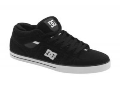 DC MENS SKATE SHOES TACTIC MID BLACK/WHITE NEW SZ 10