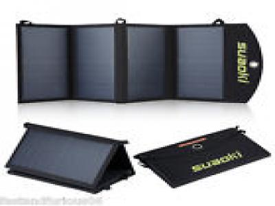 Suaoki 25W Portable Foldable Dual-Port Solar Panel Charger 5V USB Charged Device