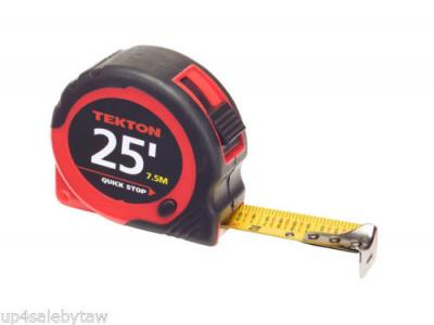 "25' x 1"" TAPE MEASURE RAPID READ AND QUICK STOP 1inch x 25' ft Measuring Tape"