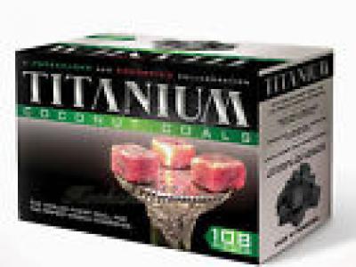 108 Pcs Titanium Coconut Coal Hookah Charcoal Coco Shisha Nara 1KG Box Mazaya