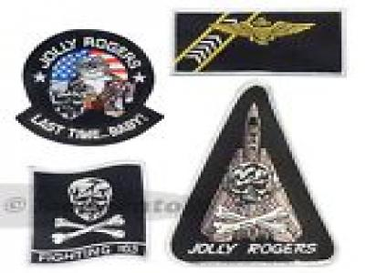 US Navy VF-103 Jolly Rogers fligh jacket sew on patch set Strike Fighter USN